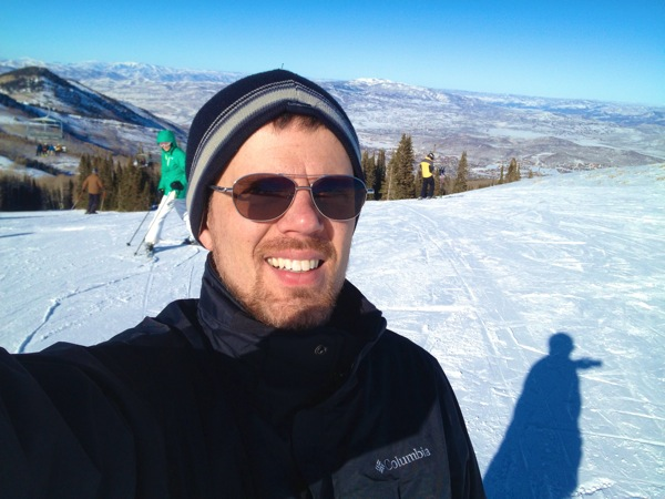 Jeremy on the slopes at Park City Mountain